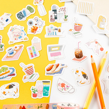 45PCS/ PACK Kawaii Cute Food Drink Sticker Marker Planner Diary Decorate Stationery Stickers Scrapbooking Bullet Journal sl1973
