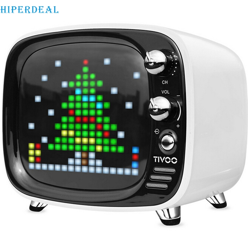 Novel Designs Delightful Colors And Exquisite Workmanship Hiperdeal Divoom Tivoo Portable Wireless Bluetooth Speaker Pixel Art Led Smart Alarm Clock With App Available For Ios Android #f Famous For Selected Materials