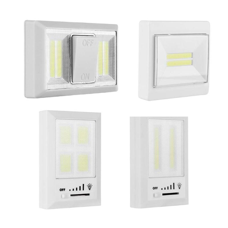 Magnetic COB LED Switch Wall Night Cordless Lamp Battery Operated Cabinet Garage Closet  ...