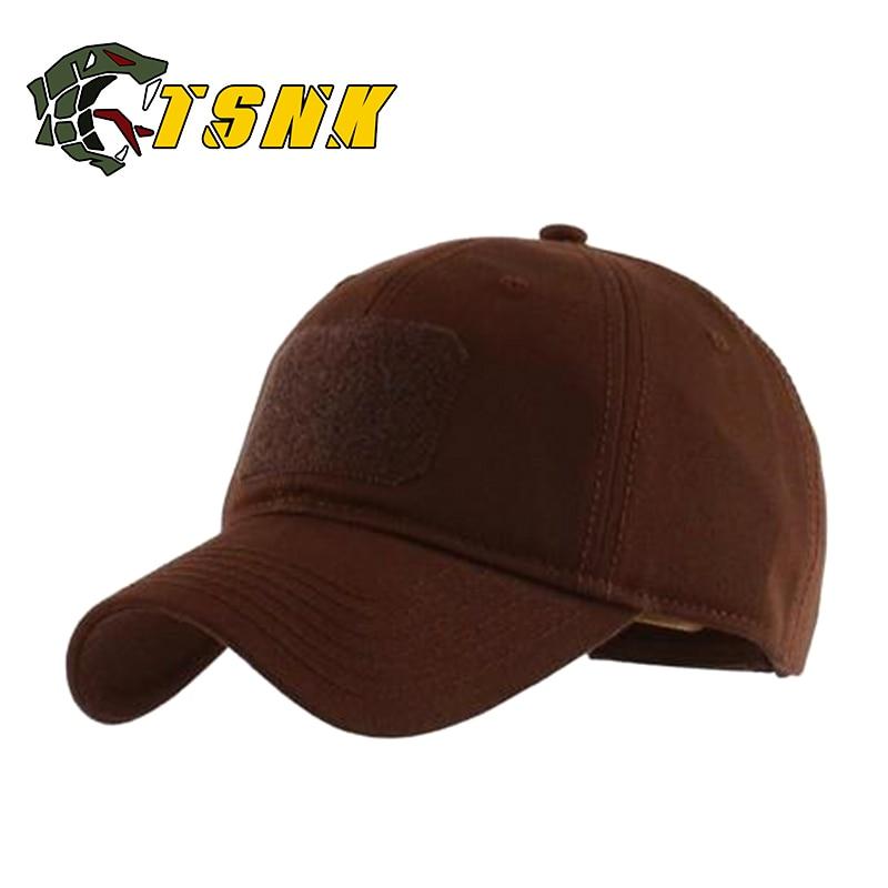 d206809607c TSNK Tactical Cap Cotton Basic Snapback Brand Hat Fashion Baseball Cap  Sunhat Fishing Fashion Hat