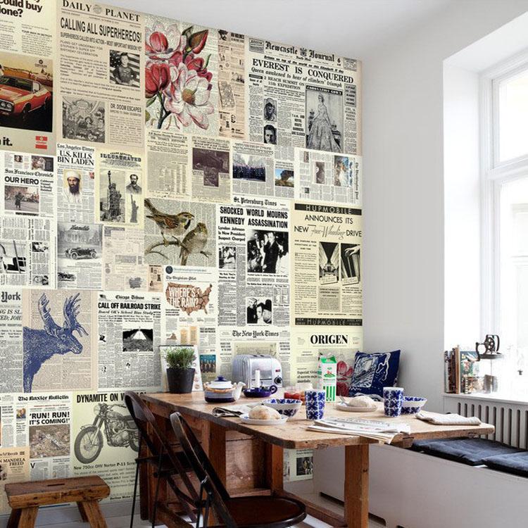 Free Shipping English Words Newspaper Waterproof Modern Minimalist Inspiration Bedroom In Spanish Minimalist Collection