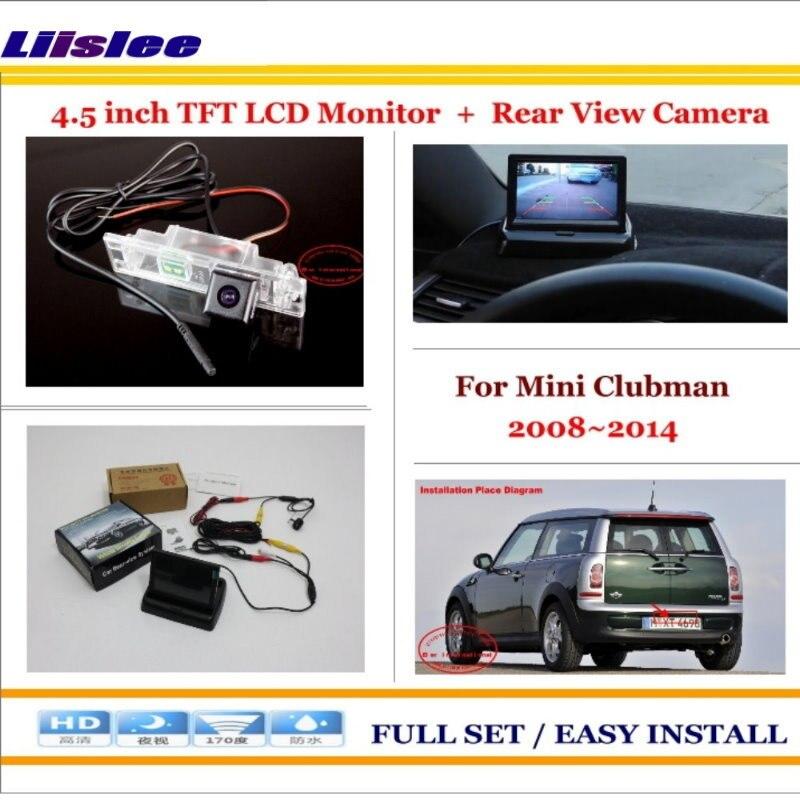 Liislee For Mini Clubman 2008 2014 Car Reverse Backup Rear Camera 4 3 TFT LCD Screen