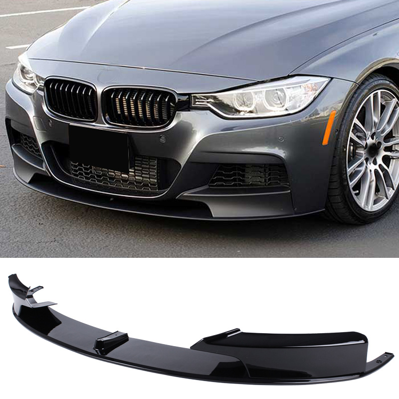 M P Style PP material Bumper Front Lip Spoiler For BMW 3 Series F30 320 330