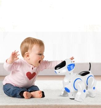 Robot pies elektroniczny pies zwierzęta domowe są spacerem kory inteligentny szczeniak z LED elektroniczne zwierzęta domowe dla dzieci prezent pluszowe zwierzęta pies zabawki dla dla dzieci tanie i dobre opinie electronic Ewellsold Interaktywne Miga Edukacyjne Brzmiące Zasilanie bateryjne Z tworzywa sztucznego 6 lat Unisex