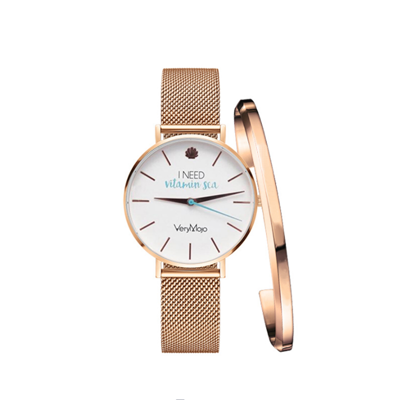 Verymojo Watches Women Fashion Luxury Stainless Steel Magnetic Buckle Strap Refractive surface Luminous Dial Ladies Quartz Watch