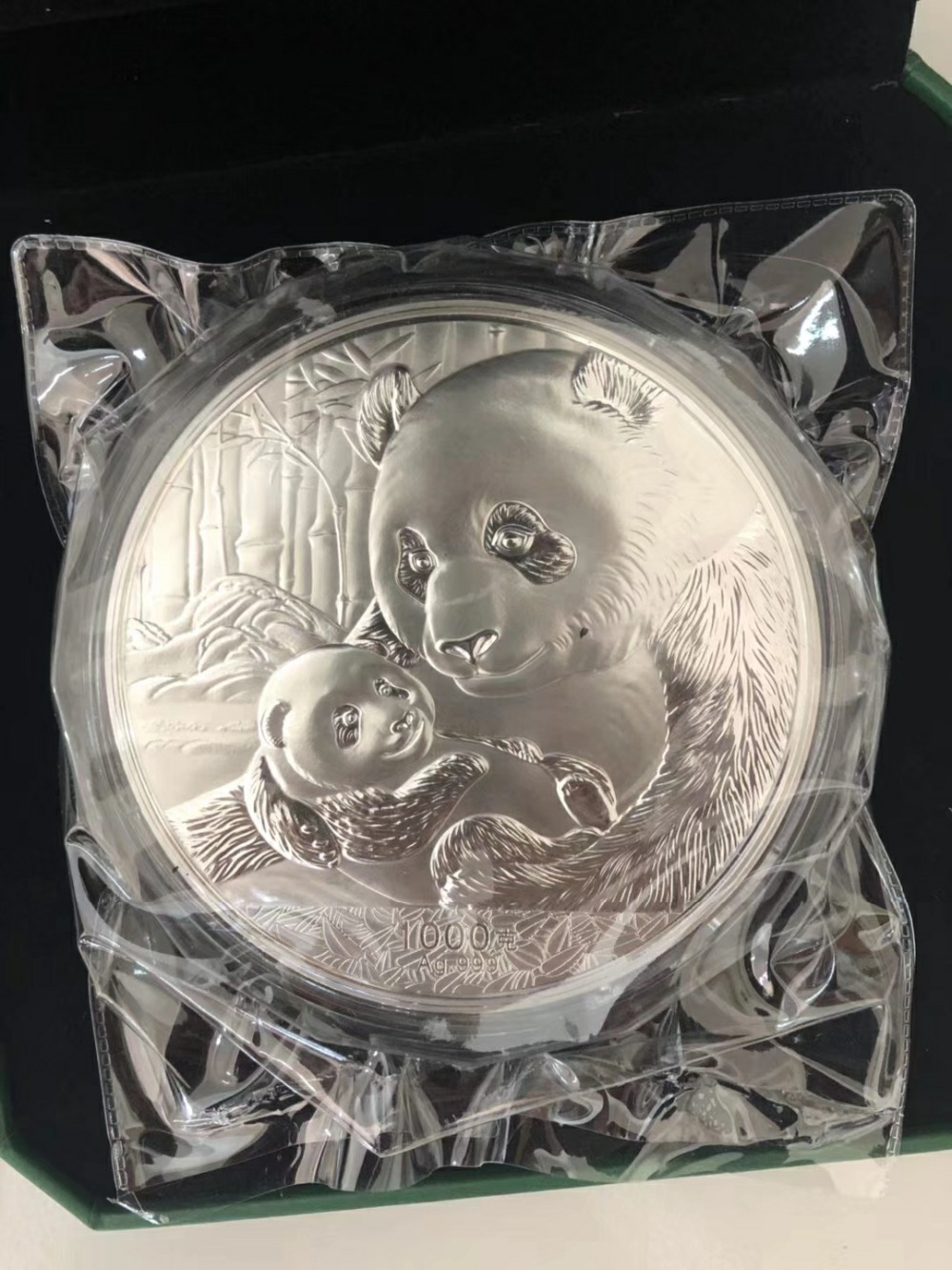 2019 Chinese Panda commemorative silver plated coin 1kg with COA and box for collection free shipping