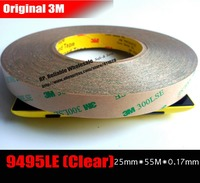 1x 25mm 55M Super Strong Adhesion 3M 9495LE 300LSE Double Coated Tapes For Cellphone IPad Tablet