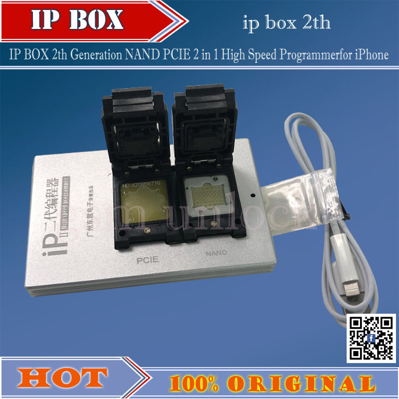 Gsmjustoncct 2018 IPBox IP BOX 2th Generation NAND PCIE 2in1 High Speed Programmerfor IPhone