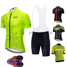 2019 NW brand flour green cycling jersey bike clothing set mountian sport racing wear clothes JERSEY sets