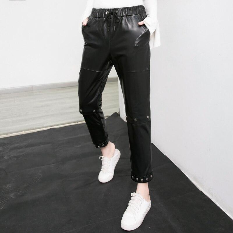 Haute Noir En Jambe Pantalon Large Pas Outfit Long Look Cher Cuir Costume Taille Leggings Femmes nEqqxw0rfz