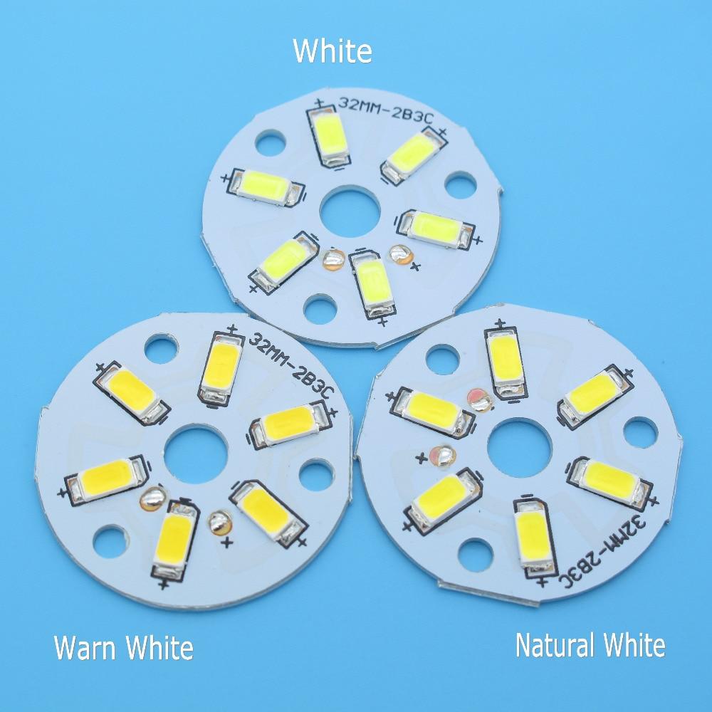10pcs SMD5730 LED PCB 2W 3W 20mm 23mm 32mm 40mm 44mm White / Natural White / Warm White Light Source  For Led Bulb