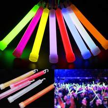 2 Pcs 6inch Industrial Grade Glow Sticks Party Camping Emergency Lights Glowstick Chemical Fluorescent Hanging Decoraction(China)