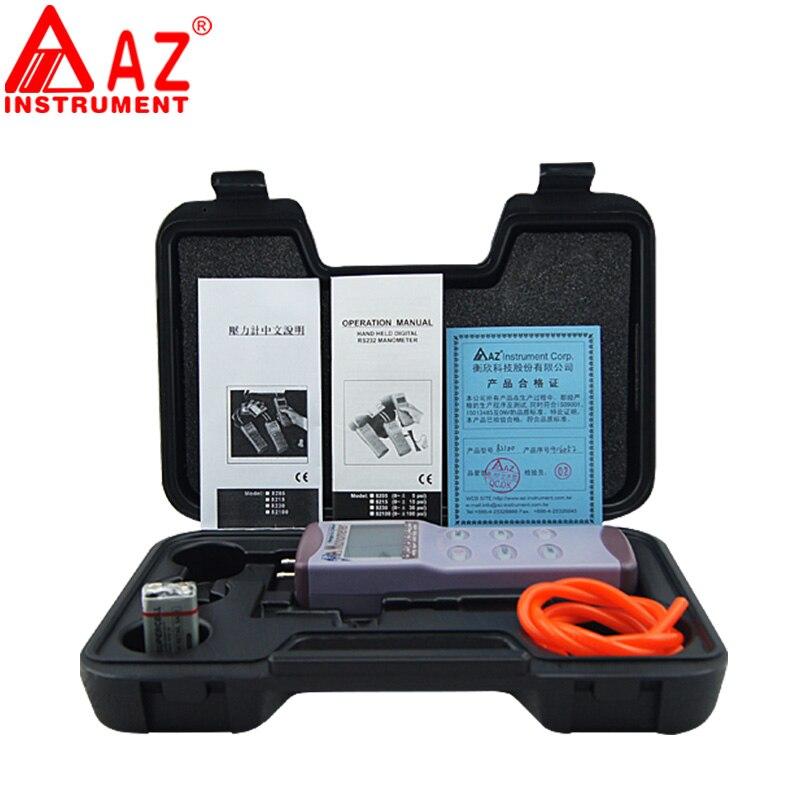 AZ82100 pressure gauge range 0 100psi Manometer Digital Pressure Gauge Differential Pressure Meter manometro digital