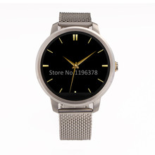 Smartwatch Android IOS Phone Compatible Steel Bracelet Pedometer Calorie Sleep monitor Remote Camera Music Bluetooth 4.0