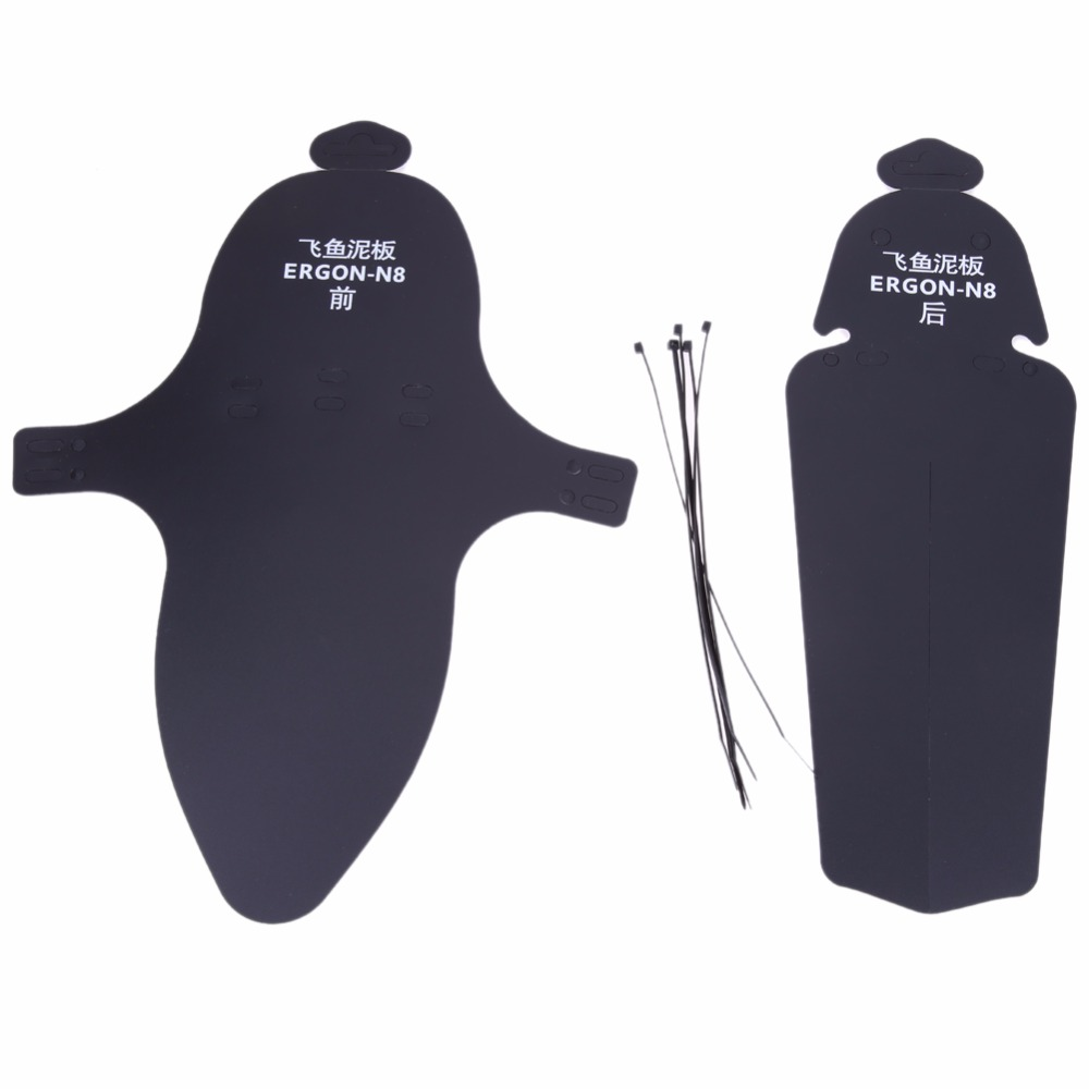 2Pcs MTB Mountain Bike Bicycle Front + Rear Mudguard Bicycle Fenders Soft Torsion Mudguard Anti-dust Bike Cleaner Protector