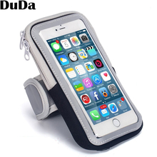 DuDa Universal Running Gym Sport Armband Case Mobile Phone Arm Band Bag Holder for iPhone 6.1 inch Smartphone on Hand comfy sport band workout armband adjustable neoprene velcro strap black for nokia latest smartphone retractable car charger