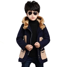 Boy children coat to keep warm and velvet cloth coat increasing leisure children's clothing