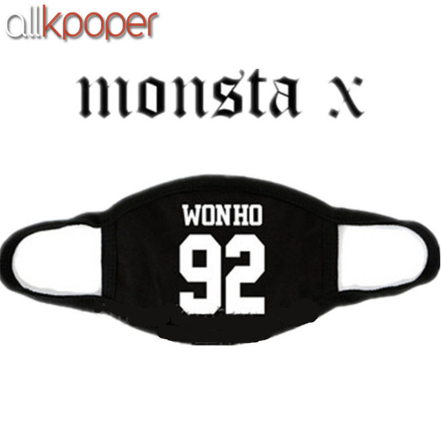 ALLKPOPER Kpop MONSTA X Mask Cotton Mouth HYUNGWO Face Muffle I.M SHOWNU WONHO MINHYUK 4