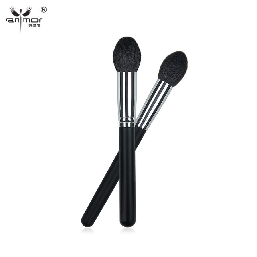 2 pcs/set Face Makeup Brushes High Quality Pure Goat Hair Tapered Blush/Powder Brush And Highlight Brush 20g pure horny goat weed epimedium extract powder 98