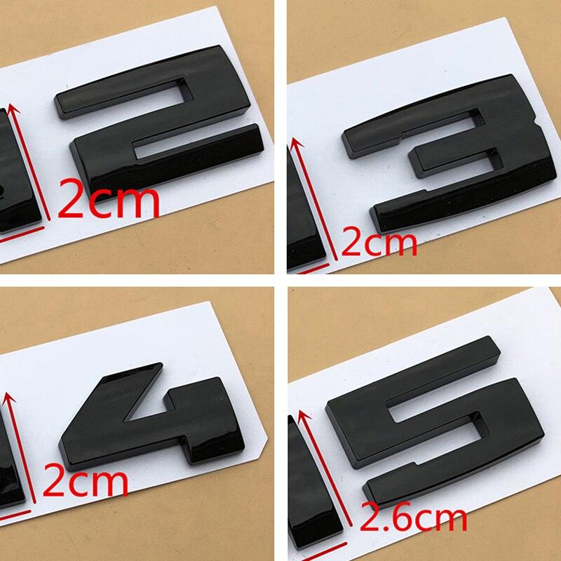 Preto brilhante Três Cores /// M Tiras M1 M2 M3 M4 M5 M6 Chrome Fender Trunk Emblema Do Emblema Car Styling adesivo para F10 E46 E60