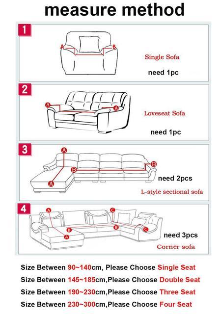 Garis Lat Murah Sudut Sofa Mencakup Untuk Ruang Tamu Multi Ukuran Selimut Dekorasi Rumah Rajutan Anti Slip Couch Meliputi