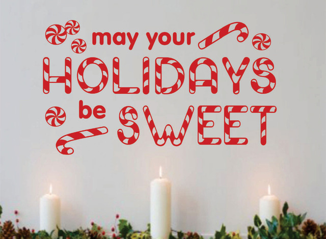 Holidays May Your be Sweet Christmas Quote Candy Cane Decoration ...