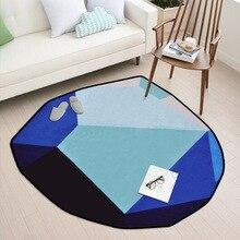 Shaped diamond rug modern short fluff carpet home bedroom bedside entrance elevator floor mat sofa coffee table anti slip