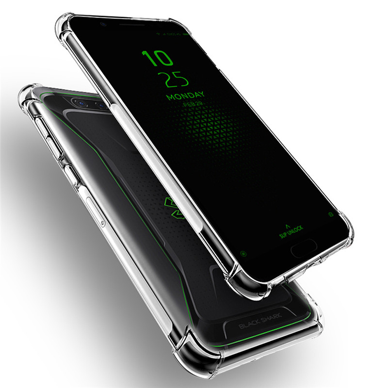 For Xiaomi Black Shark Case Anti-knock Transparent Case Soft Clear Shockproof Black Cover For Xiaomi Black Shark 2 Pro 3 Capa(China)