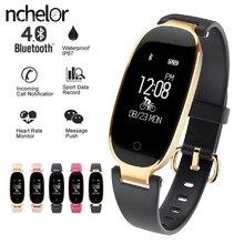 Новая модная одежда для девочек смарт-часы с монитор сердечного ритма многофункциональный спортивные часы Для женщин Смарт-браслет для iPhone Xiaomi телефон
