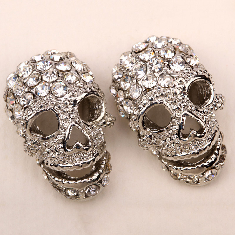 Jewelry & Watches Women Fashion Gold Metal Skull Skeleton Bone Hand Pin Broach Hair Head Jewelry Hair & Head Jewelry