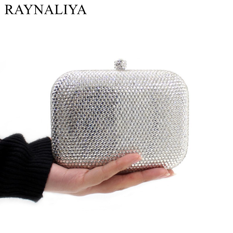 Fashion Design Women Handbags Solid Clutch Bags Wedding Party Glitter Diamond Evening Bags Small Purse Female SMYZH-E0318 цена