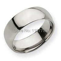 Classic Comfort Fit Dome Design 8mm Custom Titanium Rings Wedding Band For Men