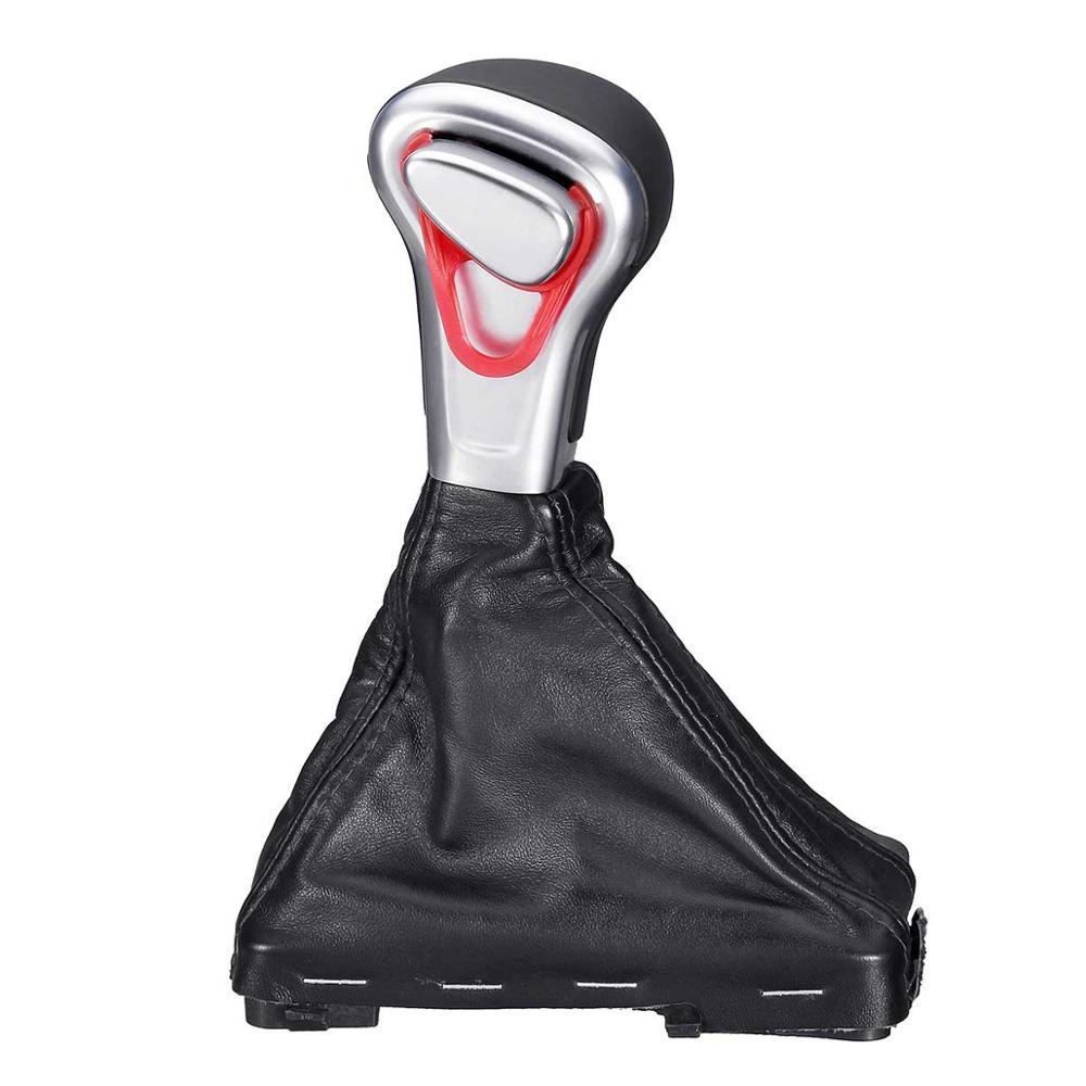 Pommeau de levier de vitesse pour voiture avec capuchon de protection pour Audi A3 A4 A5 A6 Q5 Q7 PU cuir