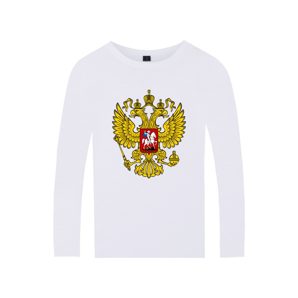 Russia Is Our Power T Shirt Men Women Brand Clothing Double-headed Eagle T-shirt Russia Style Cotton Long Sleeve Tees