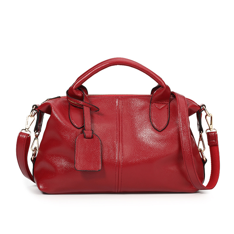 1be8be49edb7 Из искусственной кожи Бостон дамы сумочка, сумка женская мода нежный поток  сплошной цвет Женщины Сумка женская пельмени сумка