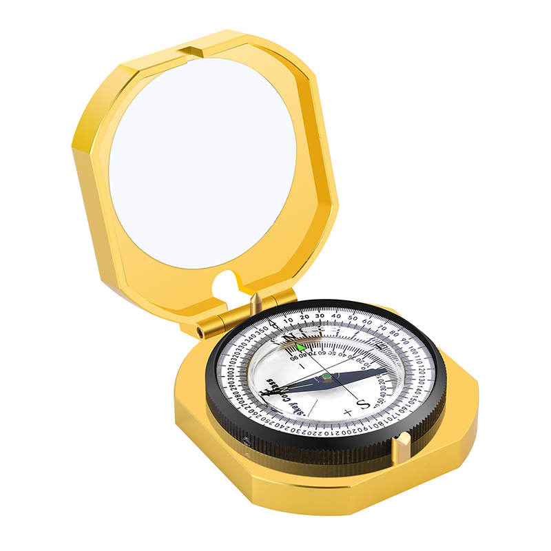 eyeskey navegacao metal bussola dourada handheld leve 01