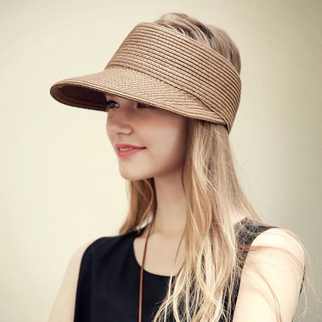 304285dd504a8 10pcs lot 01807-pan317 without solid paper lady hat straw leisure cap women  holiday street hat wholesale