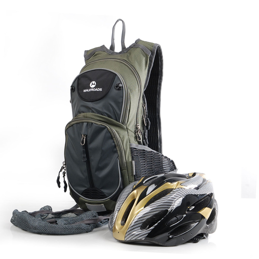 Maleroads Cycling Backpack Profession Bicycle Backpack 10L Waterproof Road Riding Rucksack Hydration Bag Bike Pack for