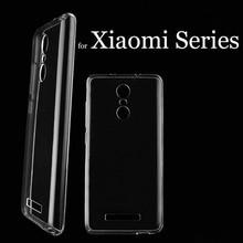 Clear Soft Silicon TPU Coque Phone Cases for Xiaomi Mi5S Plus Mi5 Mi4 4S 4C Redmi 3 3S 3X Redmi Note 2 3 4 Pro Prime MIX Cover