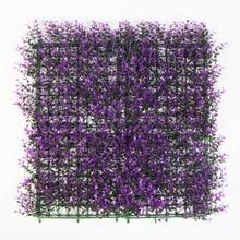 25x25cm Plastic Fencing Mat Decorative Artificial Long Purple Boxwood Hedge Sythenic Garden Grass Fence Ornaments
