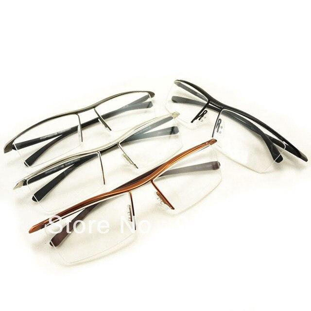 Silver/Gun/Brown/Black P8189 Eyebrow Metal Half Rim Optical ...