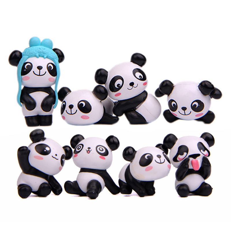 Tiny Doll Modeling Action-Figure Edition 8 Cute S Panda for Children Gift Toy Playful-Version