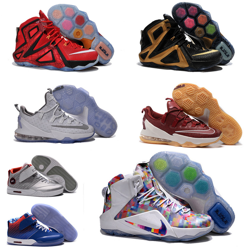 f23bbb46f264 ... Cheap Sale Lebron 12 13 Low xiii elite BHM boots men Eur size 40 to 46  ...