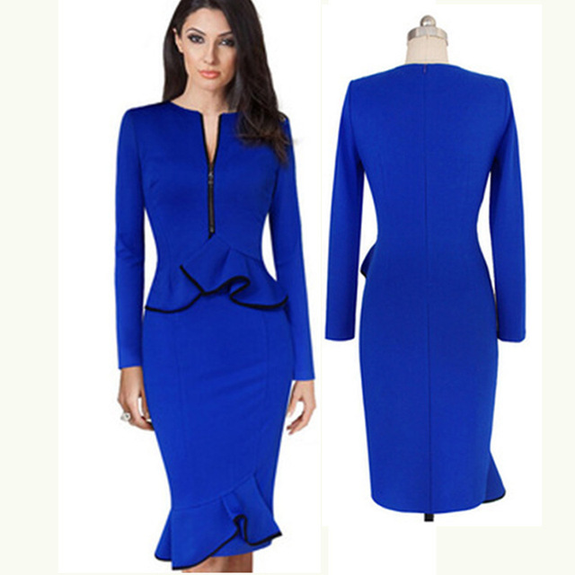 Kleid business blau