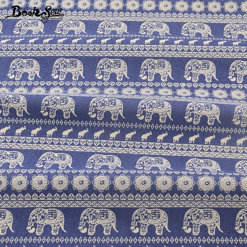 Booksew Home Textile Thailand Style Elephant Design Cotton