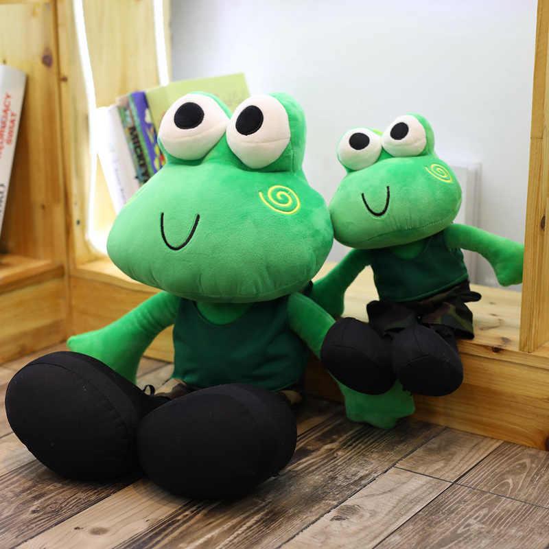 Hot 1 PC 65 Cm Pangeran Katak Lucu Berkaki Panjang Katak Lembut Mewah Mainan Boneka Hewan Anak Hadiah Ulang Tahun Hadiah untuk Bayi Perempuan