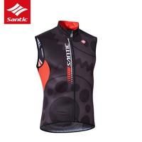 SANTIC Cycling Jacket Men Windproof Waistcoat Road Mountain Bike Jacket Bicycle Clothing Downhill Cycling Wind Coat Jacket Vest