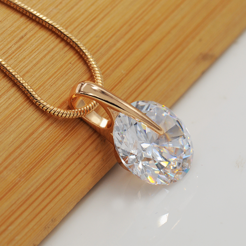Mgfam special price single round cz pendants necklace for women mgfam special price single round cz pendants necklace for women classic style gold color aaa cubic zirconia 45cm snake chain in pendants from jewelry aloadofball Image collections