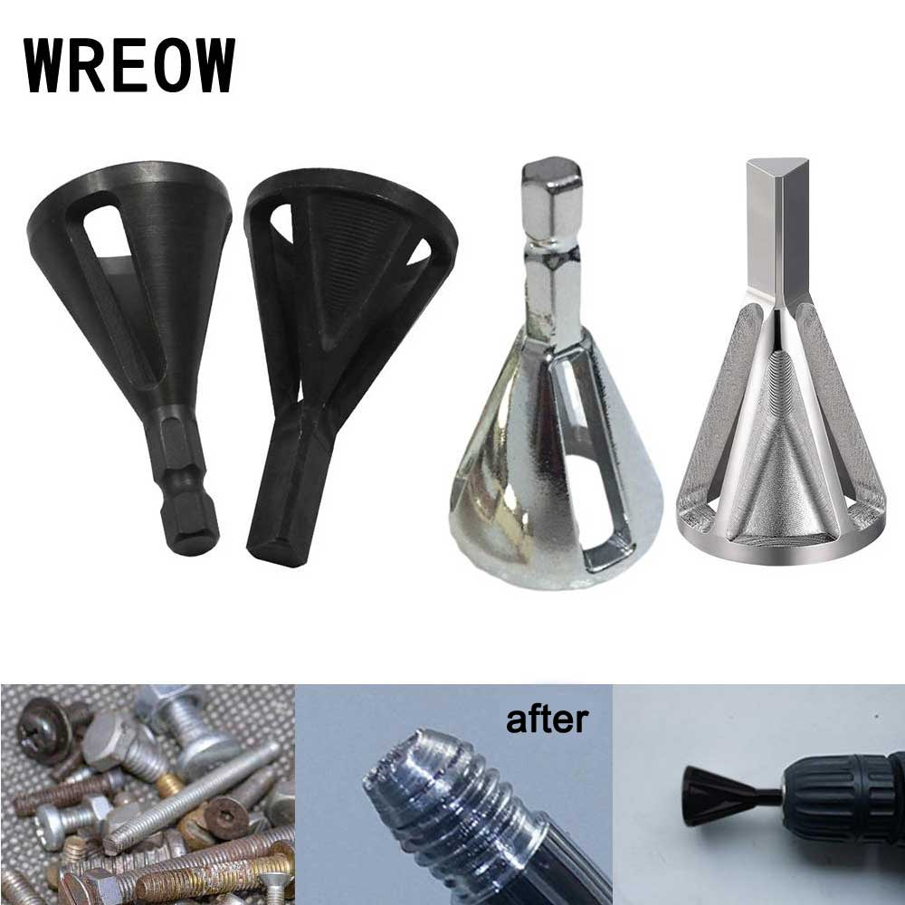 Mould Steel Deburring External Chamfer Tool Drills Bits Remove Burr Silver Tire Repair Damaged Bolts Hand Tools Woodworking