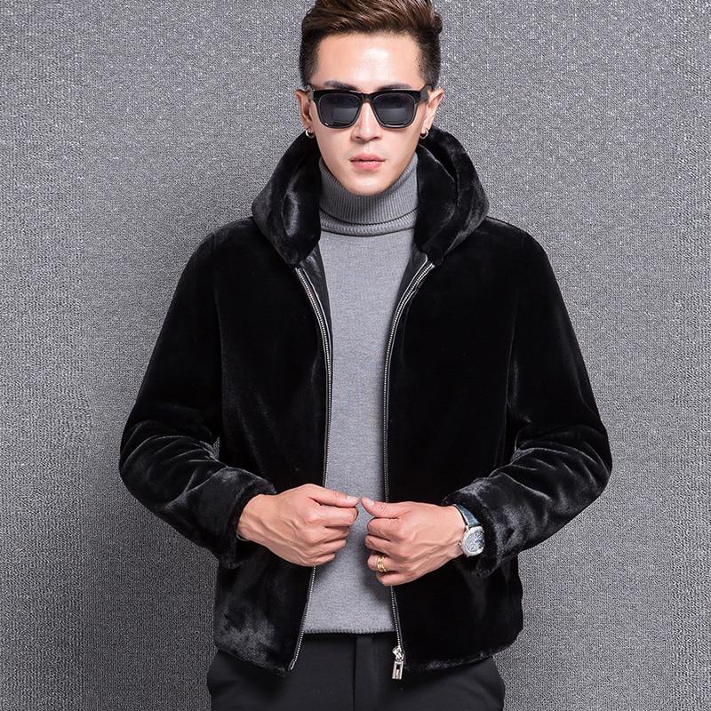 1772 New Fashion 2017 sheep shearing font b jacket b font font b Men s b